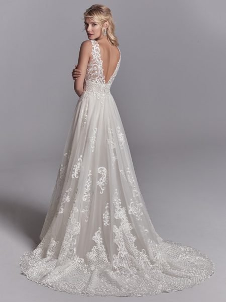 Back of Oliver Wedding Dress from the Sottero and Midgley Khloe 2018 Bridal Collection