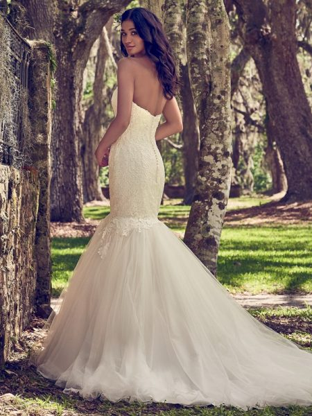 Back of Orchid Wedding Dress from the Maggie Sottero Emerald 2018 Bridal Collection