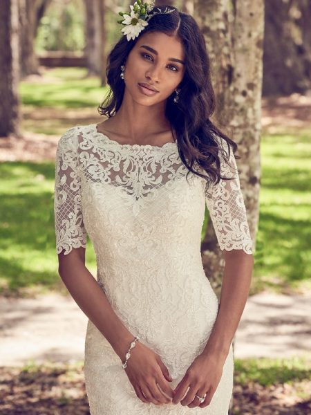 Orchid Wedding Dress with Lace Illusion Jacket from the Maggie Sottero Emerald 2018 Bridal Collection