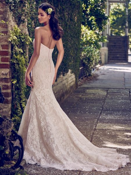 Back of Philomena Wedding Dress from the Maggie Sottero Emerald 2018 Bridal Collection
