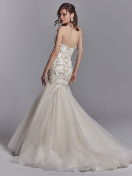 Back of Pierre Wedding Dress from the Sottero and Midgley Khloe 2018 Bridal Collection