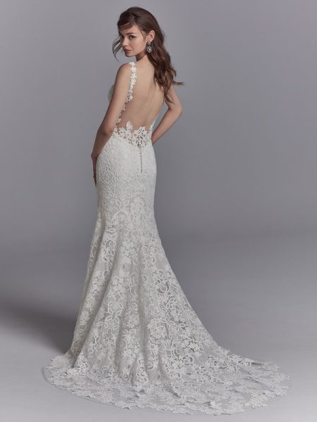 Back of Presca Wedding Dress from the Sottero and Midgley Khloe 2018 Bridal Collection