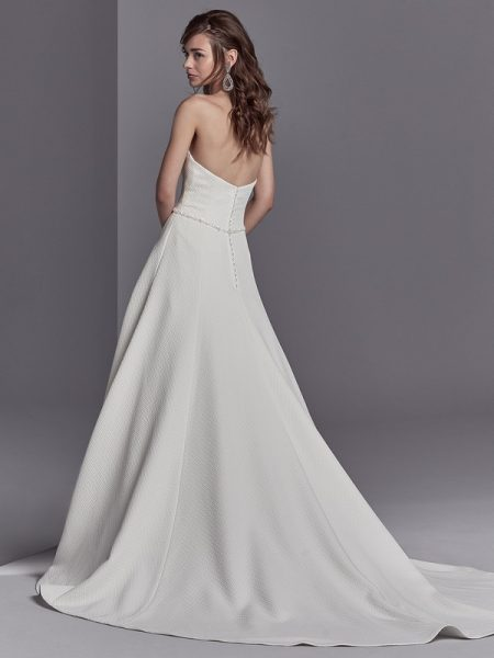 Back of Princeton Wedding Dress from the Sottero and Midgley Khloe 2018 Bridal Collection