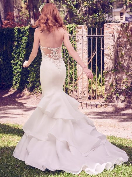 Back of Quintyn Wedding Dress from the Maggie Sottero Emerald 2018 Bridal Collection