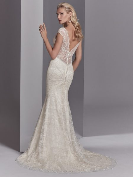 Back of Ramira Wedding Dress from the Sottero and Midgley Khloe 2018 Bridal Collection