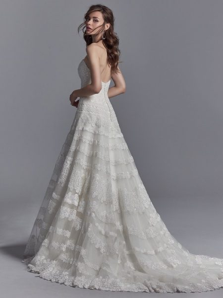 Back of Reed Wedding Dress from the Sottero and Midgley Khloe 2018 Bridal Collection