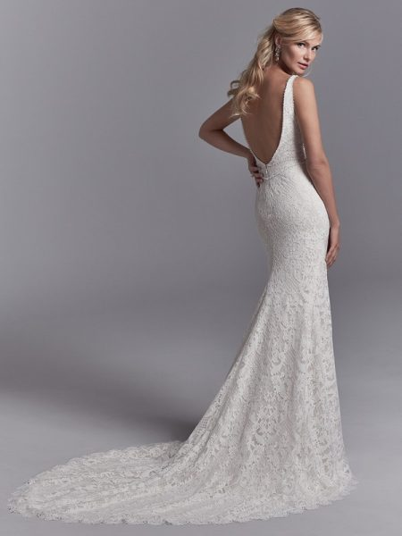 Back of Regan Wedding Dress from the Sottero and Midgley Khloe 2018 Bridal Collection