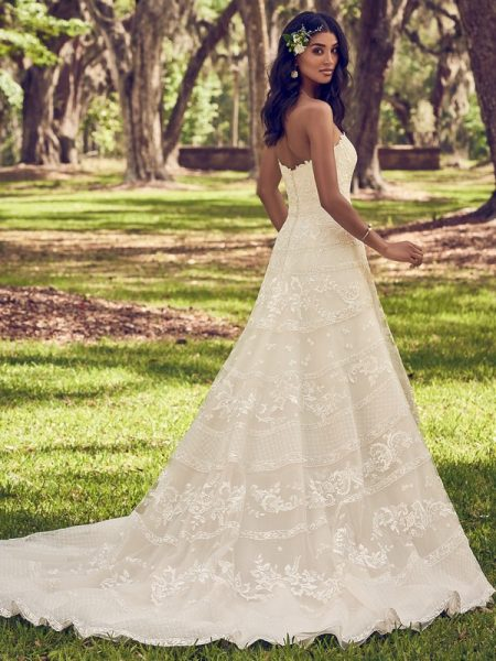 Back of Renee Wedding Dress from the Maggie Sottero Emerald 2018 Bridal Collection