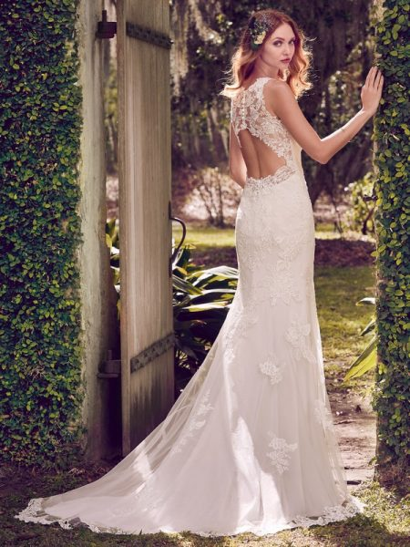 Back of Rhonda Wedding Dress from the Maggie Sottero Emerald 2018 Bridal Collection