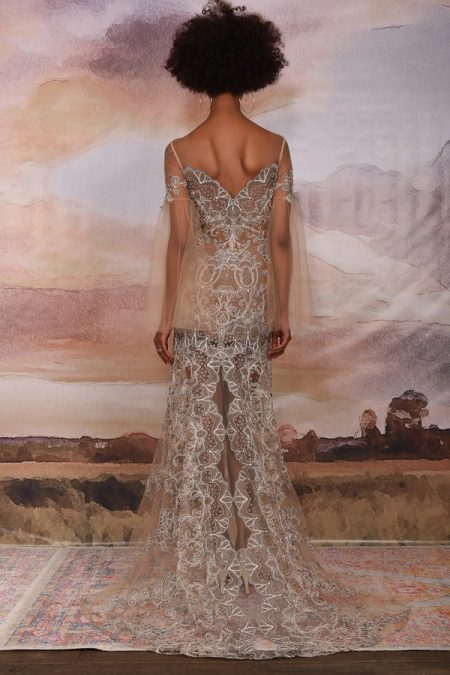 Back of Sahara Wedding Dress from the Claire Pettibone Vagabond 2018 Bridal Collection