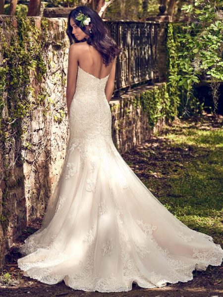 Back of Saige Wedding Dress from the Maggie Sottero Emerald 2018 Bridal Collection