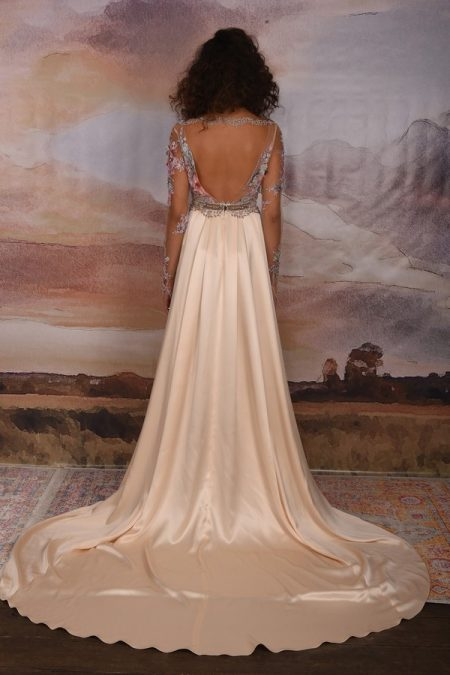 Back of Santorini Wedding Dress from the Claire Pettibone Vagabond 2018 Bridal Collection