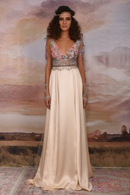 Santorini Wedding Dress from the Claire Pettibone Vagabond 2018 Bridal Collection