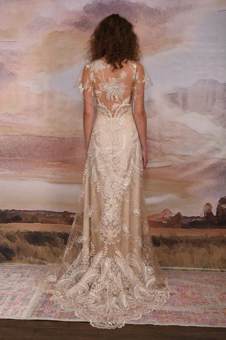 Back of Seychelles Wedding Dress from the Claire Pettibone Vagabond 2018 Bridal Collection