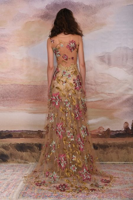 Back of Shangri-la Wedding Dress from the Claire Pettibone Vagabond 2018 Bridal Collection