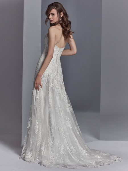 Back of Skylar Wedding Dress from the Sottero and Midgley Khloe 2018 Bridal Collection