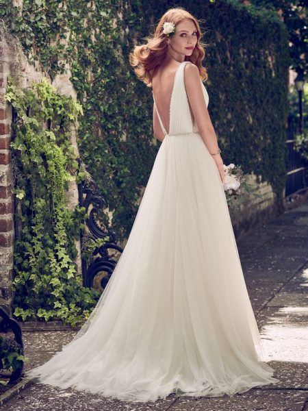 Back of Tamar Wedding Dress from the Maggie Sottero Emerald 2018 Bridal Collection