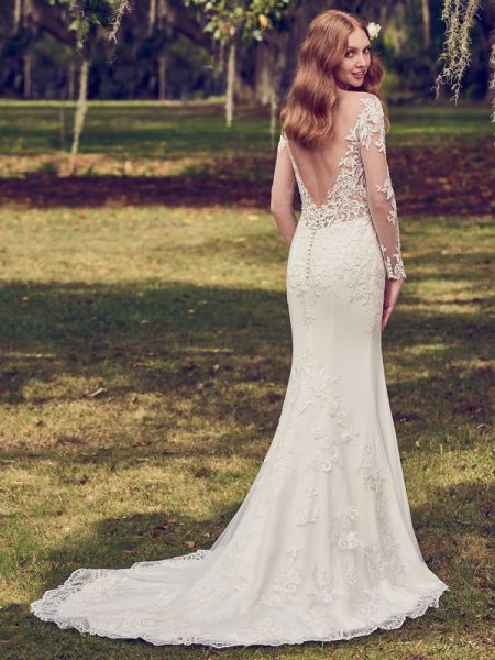 Back of Toccara Wedding Dress from the Maggie Sottero Emerald 2018 Bridal Collection