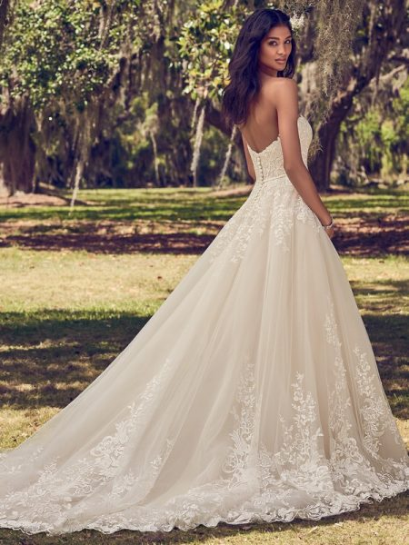 Back of Viola Wedding Dress from the Maggie Sottero Emerald 2018 Bridal Collection