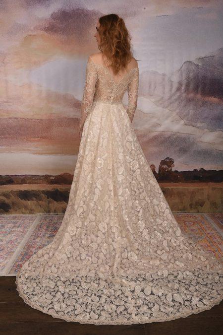 Back of Voyage Wedding Dress from the Claire Pettibone Vagabond 2018 Bridal Collection