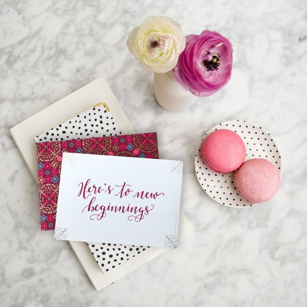 Wedding Day Love Letter and Macarons