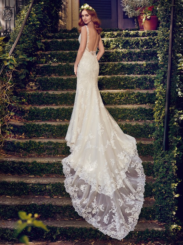 Back of Zamara Wedding Dress from the Maggie Sottero Emerald 2018 Bridal Collection