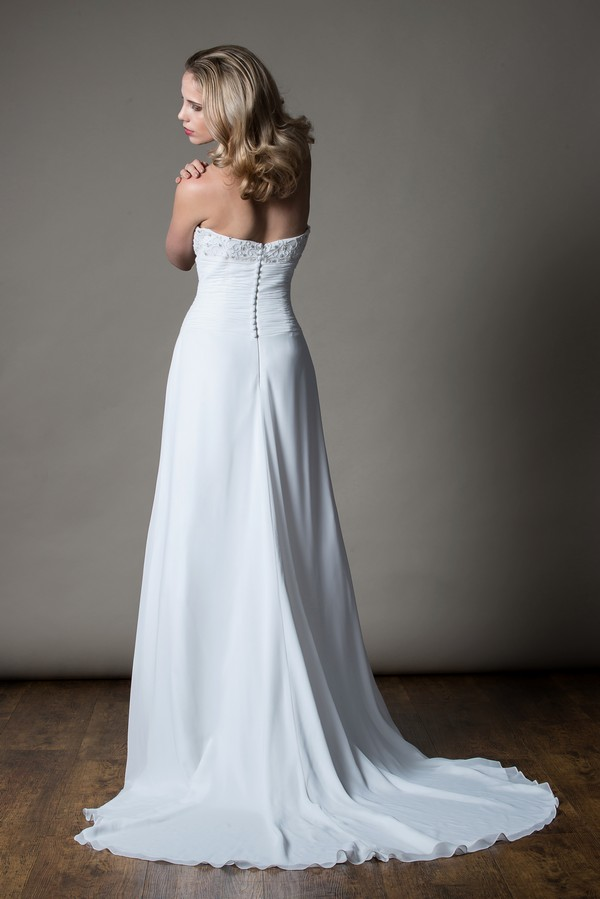 Back of Zara Wedding Dress from the MiaMia Love Letters 2018 Bridal Collection