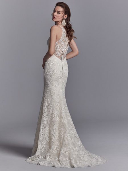 Back of Zayn Wedding Dress from the Sottero and Midgley Khloe 2018 Bridal Collection