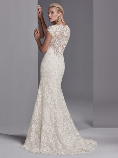 Back of Zayn Rose Wedding Dress from the Sottero and Midgley Khloe 2018 Bridal Collection