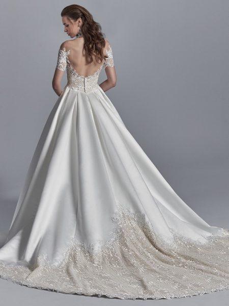Back of Zeta Wedding Dress from the Sottero and Midgley Khloe 2018 Bridal Collection