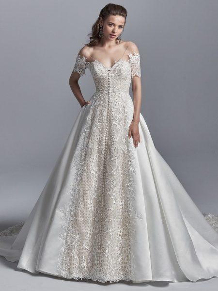 Zeta Wedding Dress from the Sottero and Midgley Khloe 2018 Bridal Collection