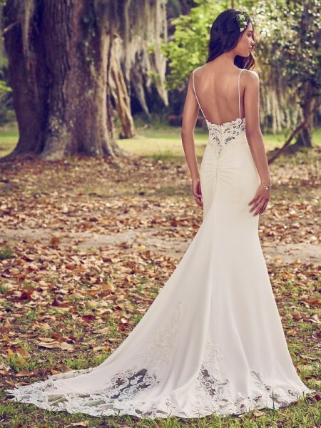 Back of Zoey Wedding Dress from the Maggie Sottero Emerald 2018 Bridal Collection