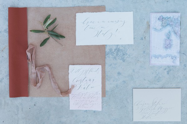 Romantic wedding stationery for Italian wedding
