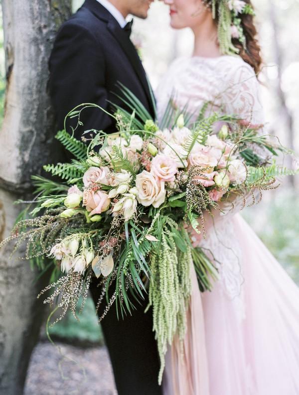 Bride's oversized bouquet