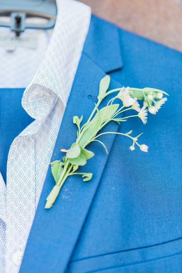 Greenery buttonhole