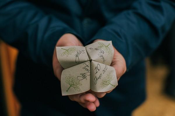 Wedding paper fortune teller