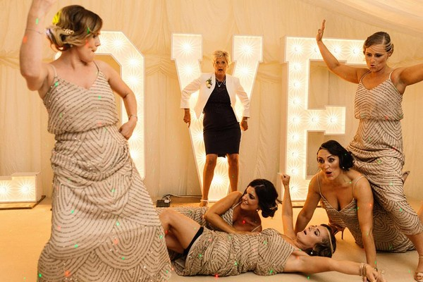 Bridesmaids messing about - Picture by Paul Joseph Photography