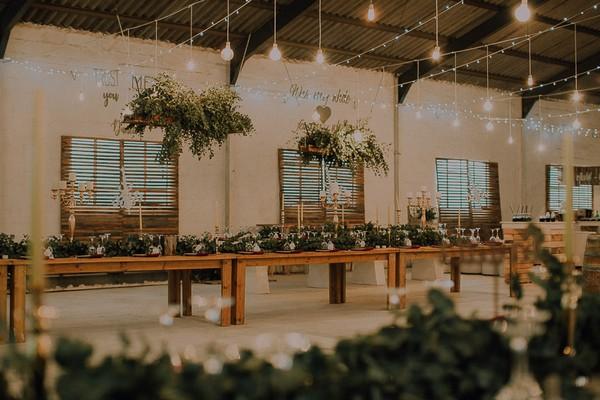 Wedding tables at Die Stoor