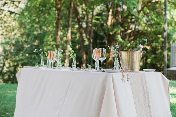 Wedding table outside