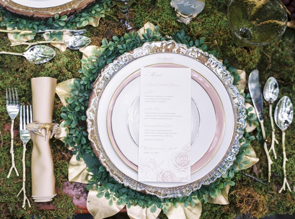 Fairyland wedding place setting
