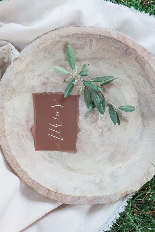 Name card in bowl