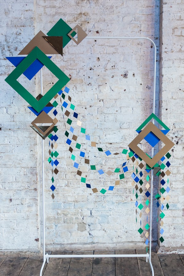 Geometric shapes wedding backdrop