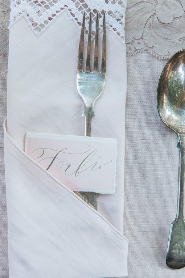 Wedding name card
