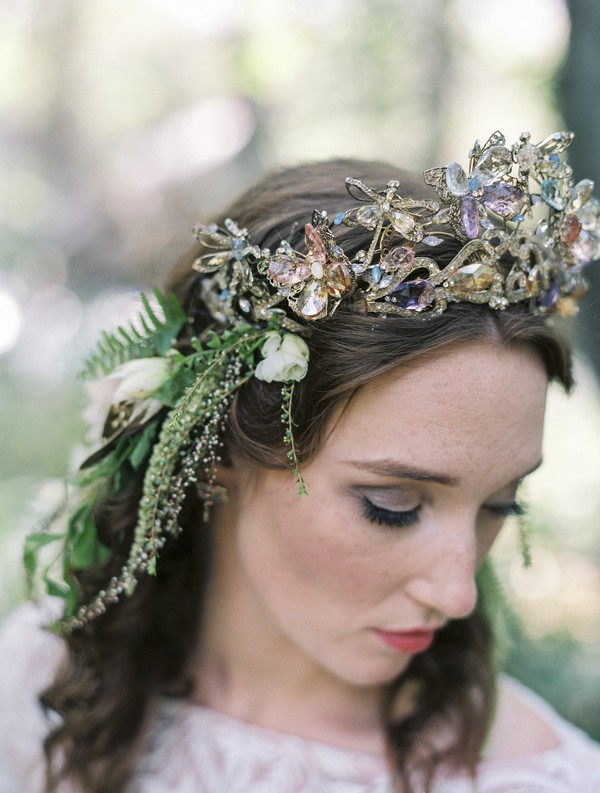 Brides jewel firefly crown