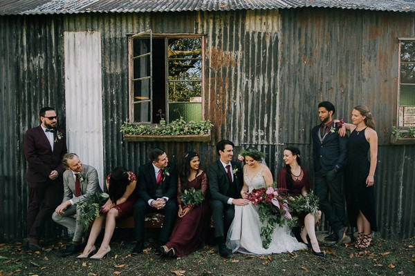 Bridal party at The Simondium Country Lodge