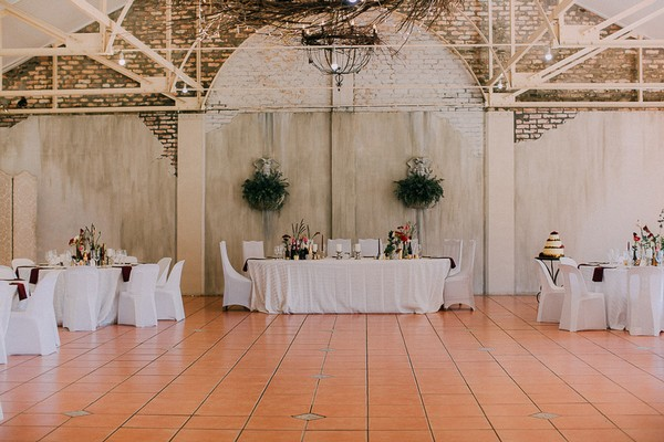 Wedding top table at Simondium Country Lodge