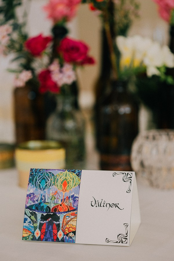 Tolkien-inspired wedding table name