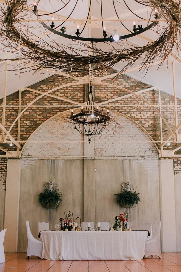 Wedding breakfast room at Simondium Country Lodge