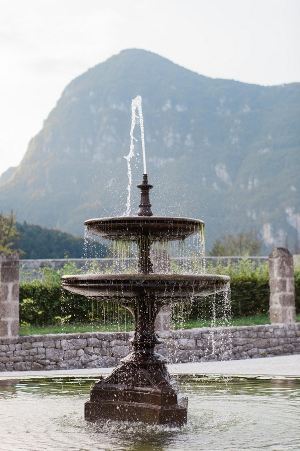 Fountain at Count Ceconi Castle in Italy