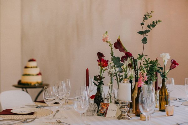 Tolkien-inspired wedding table styling